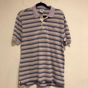 Lacoste Men's size Medium size 5 Purple stripe